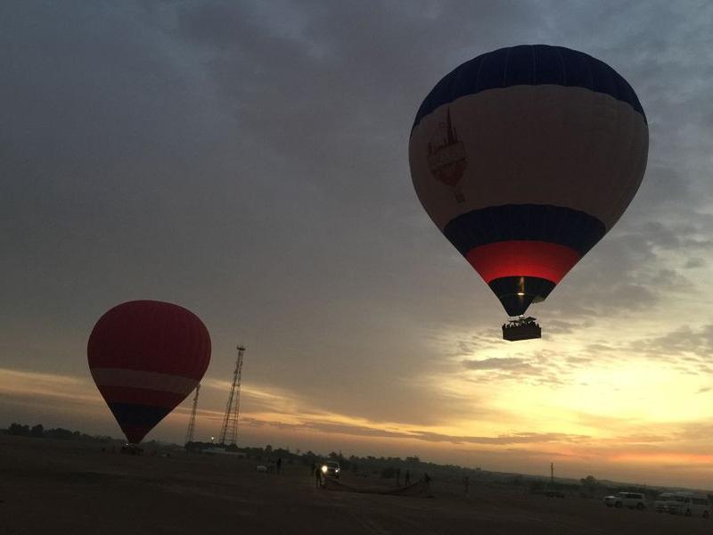 Hot Air Balloon Camel Ride Falcon Show