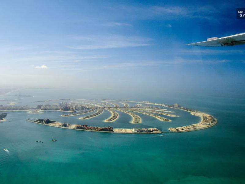Seaplane ride over Palm and Burj Khalifa